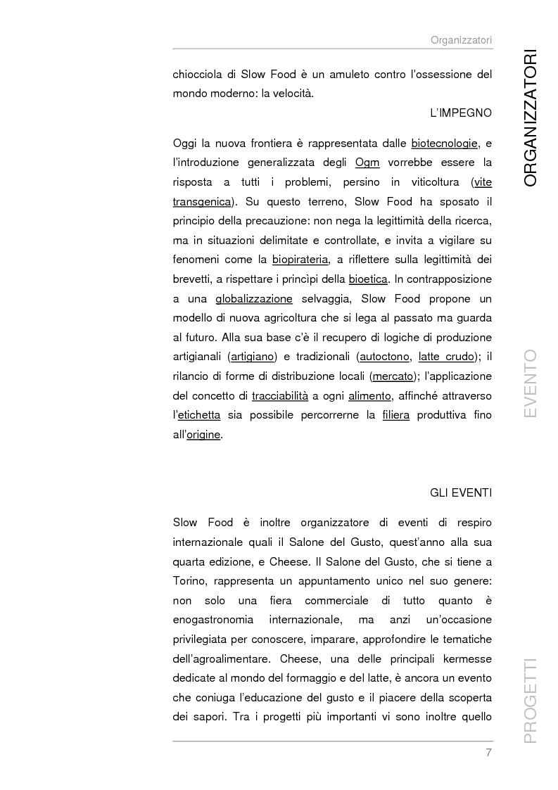 Anteprima della tesi: Analisi e sviluppo del progetto di immagine coordinata relativo al ''Salone del Gusto'', Torino 2004, Pagina 5