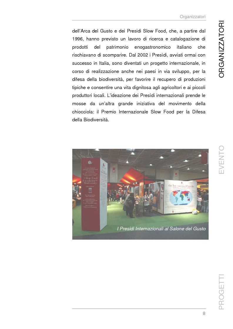 Anteprima della tesi: Analisi e sviluppo del progetto di immagine coordinata relativo al ''Salone del Gusto'', Torino 2004, Pagina 6
