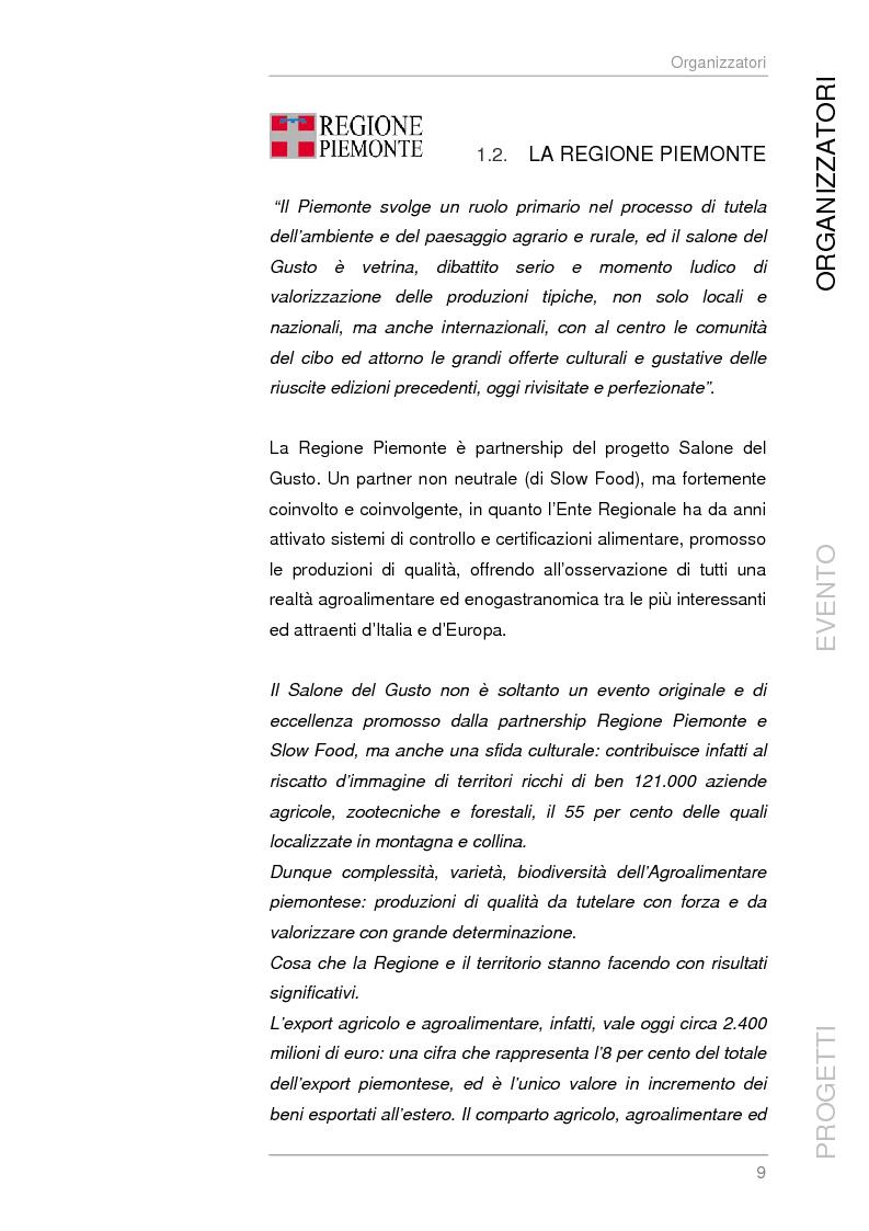 Anteprima della tesi: Analisi e sviluppo del progetto di immagine coordinata relativo al ''Salone del Gusto'', Torino 2004, Pagina 7