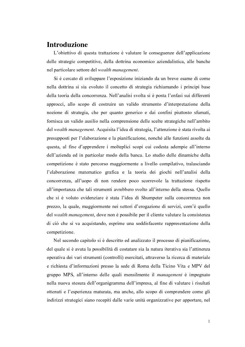 Anteprima della tesi: Le strategie competitive delle banche nel wealth management, Pagina 1