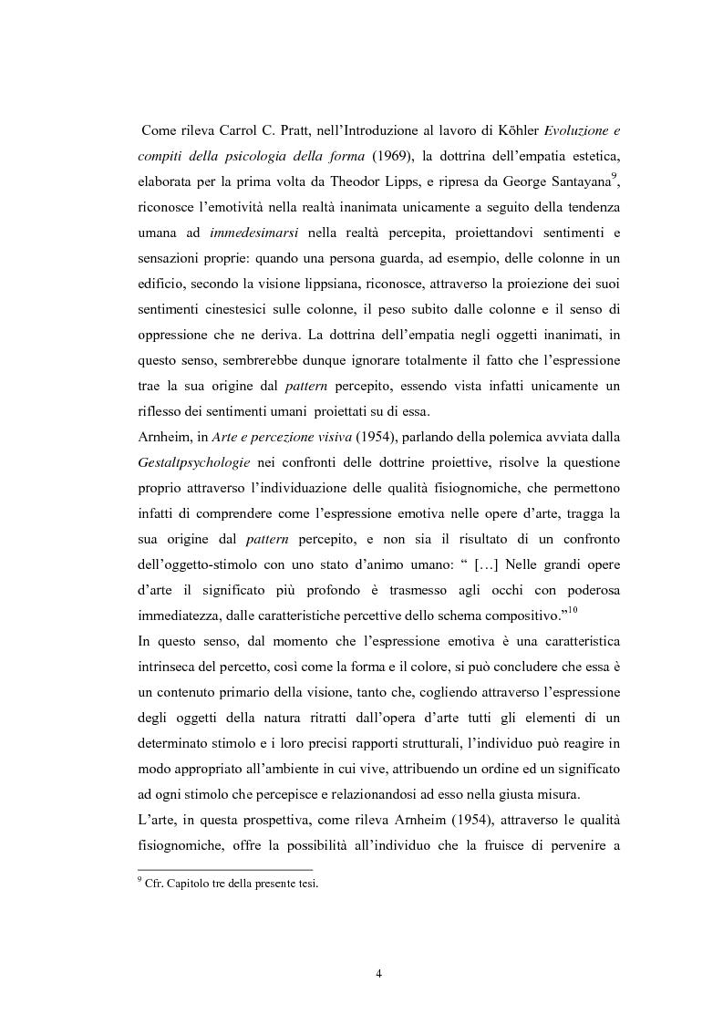 Anteprima della tesi: La regolazione delle emozioni: tra empatia ed arte, Pagina 4