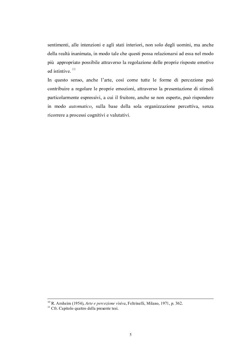 Anteprima della tesi: La regolazione delle emozioni: tra empatia ed arte, Pagina 5