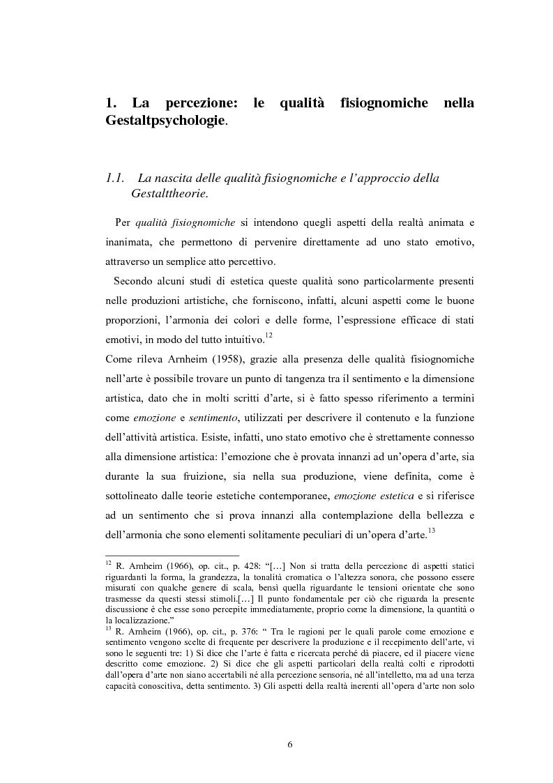 Anteprima della tesi: La regolazione delle emozioni: tra empatia ed arte, Pagina 6
