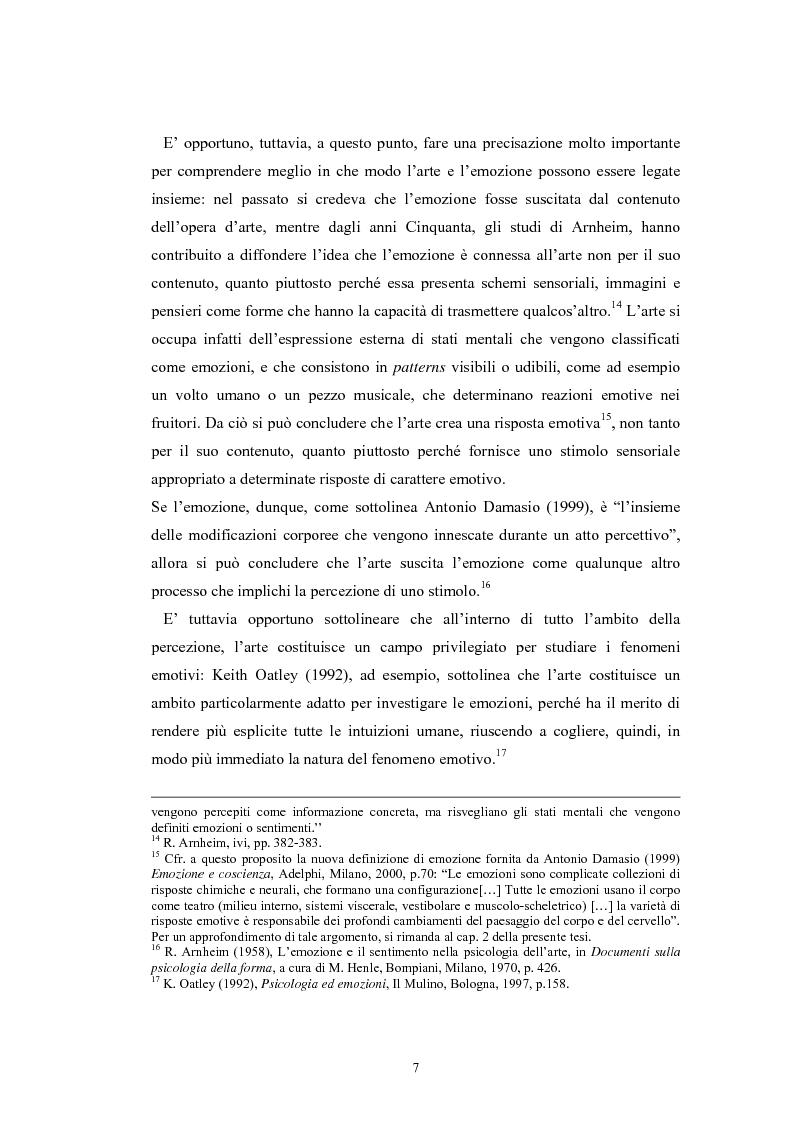 Anteprima della tesi: La regolazione delle emozioni: tra empatia ed arte, Pagina 7