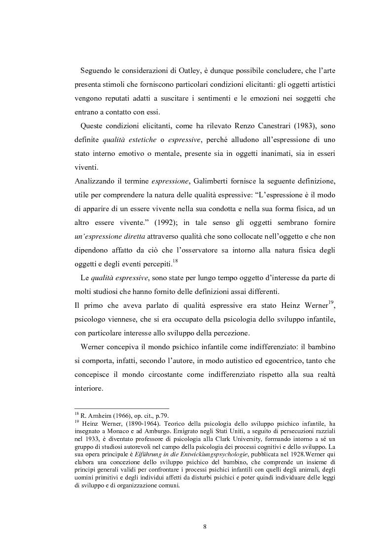 Anteprima della tesi: La regolazione delle emozioni: tra empatia ed arte, Pagina 8