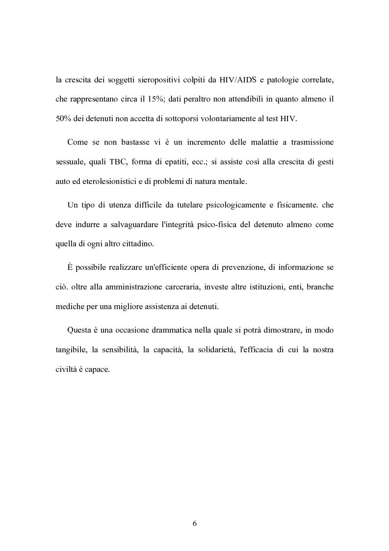 Anteprima della tesi: Rischi sanitari in ambiente penitenziario, Pagina 2