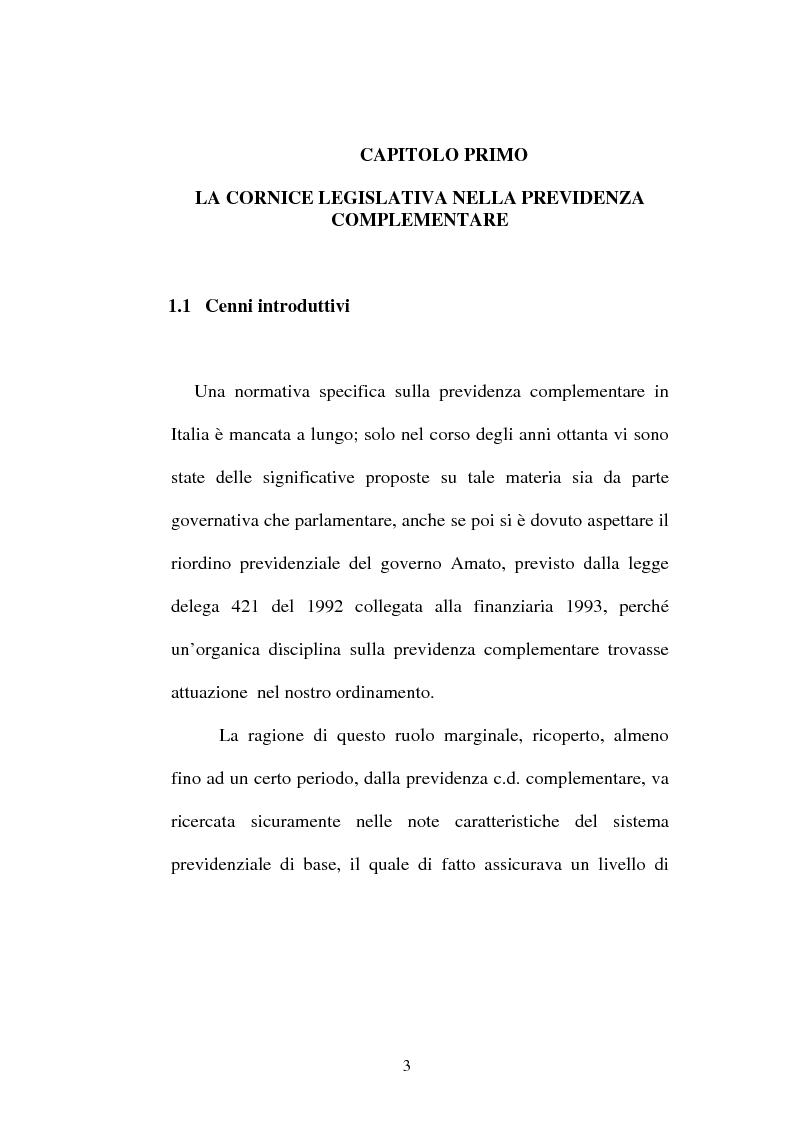Anteprima della tesi: La previdenza complementare nella giurisprudenza della Corte costituzionale., Pagina 1