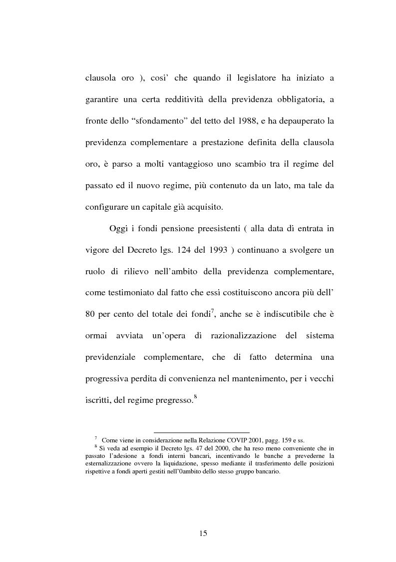Anteprima della tesi: La previdenza complementare nella giurisprudenza della Corte costituzionale., Pagina 13