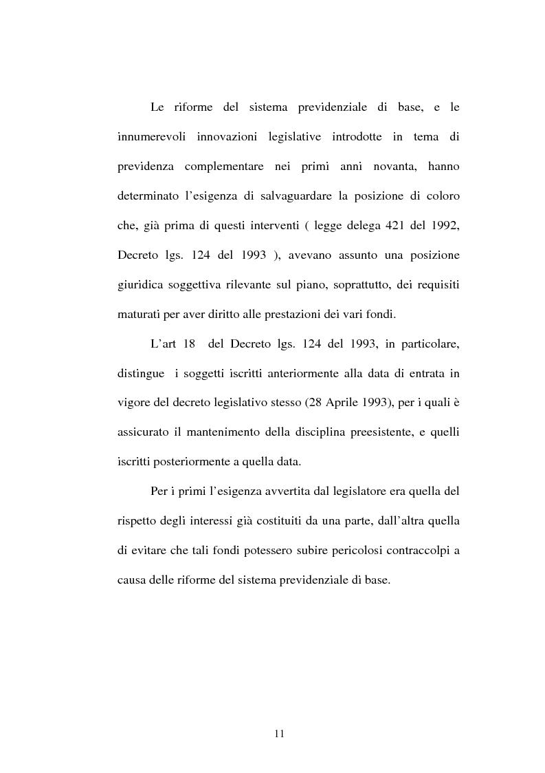 Anteprima della tesi: La previdenza complementare nella giurisprudenza della Corte costituzionale., Pagina 9