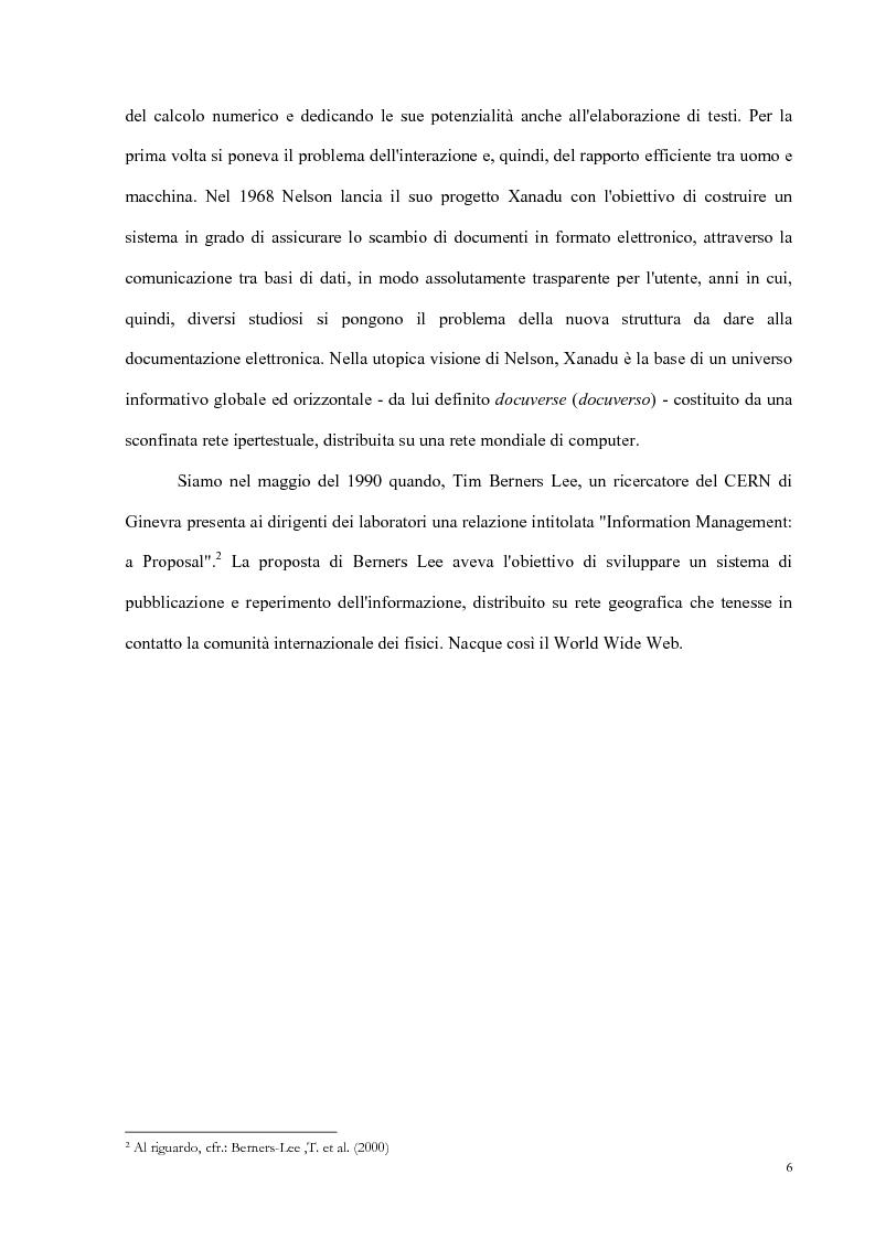 Anteprima della tesi: Semantic Web strutturazione dell'informazione e rappresentazione della conoscenza, Pagina 5