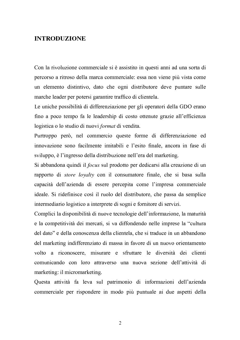 Anteprima della tesi: I programmi fedeltà nella moderna distribuzione: una visione teorico pratica del loro funzionamento, Pagina 1
