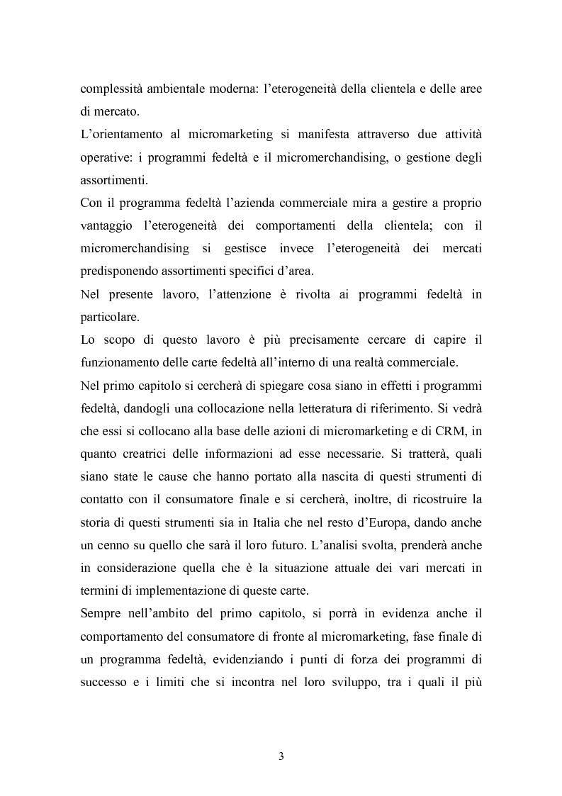Anteprima della tesi: I programmi fedeltà nella moderna distribuzione: una visione teorico pratica del loro funzionamento, Pagina 2