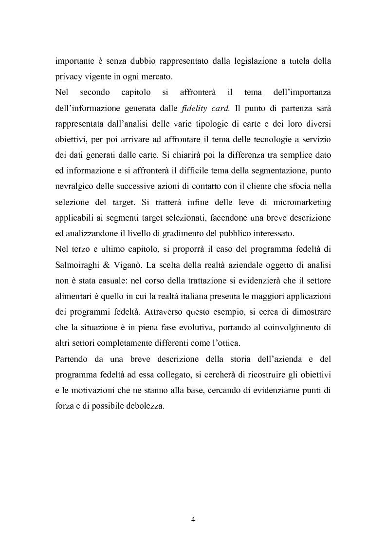 Anteprima della tesi: I programmi fedeltà nella moderna distribuzione: una visione teorico pratica del loro funzionamento, Pagina 3