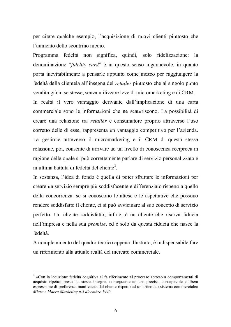 Anteprima della tesi: I programmi fedeltà nella moderna distribuzione: una visione teorico pratica del loro funzionamento, Pagina 5