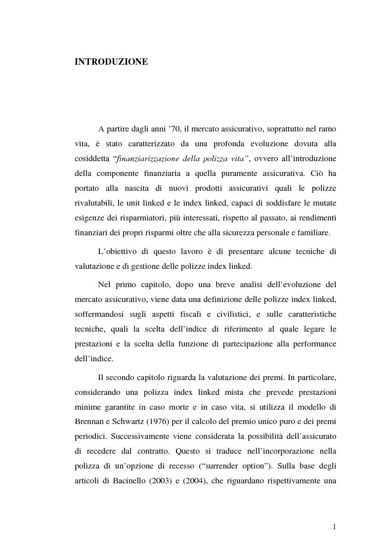 Anteprima della tesi: Modelli attuariali per la valutazione e la gestione delle polizze index-linked, Pagina 1