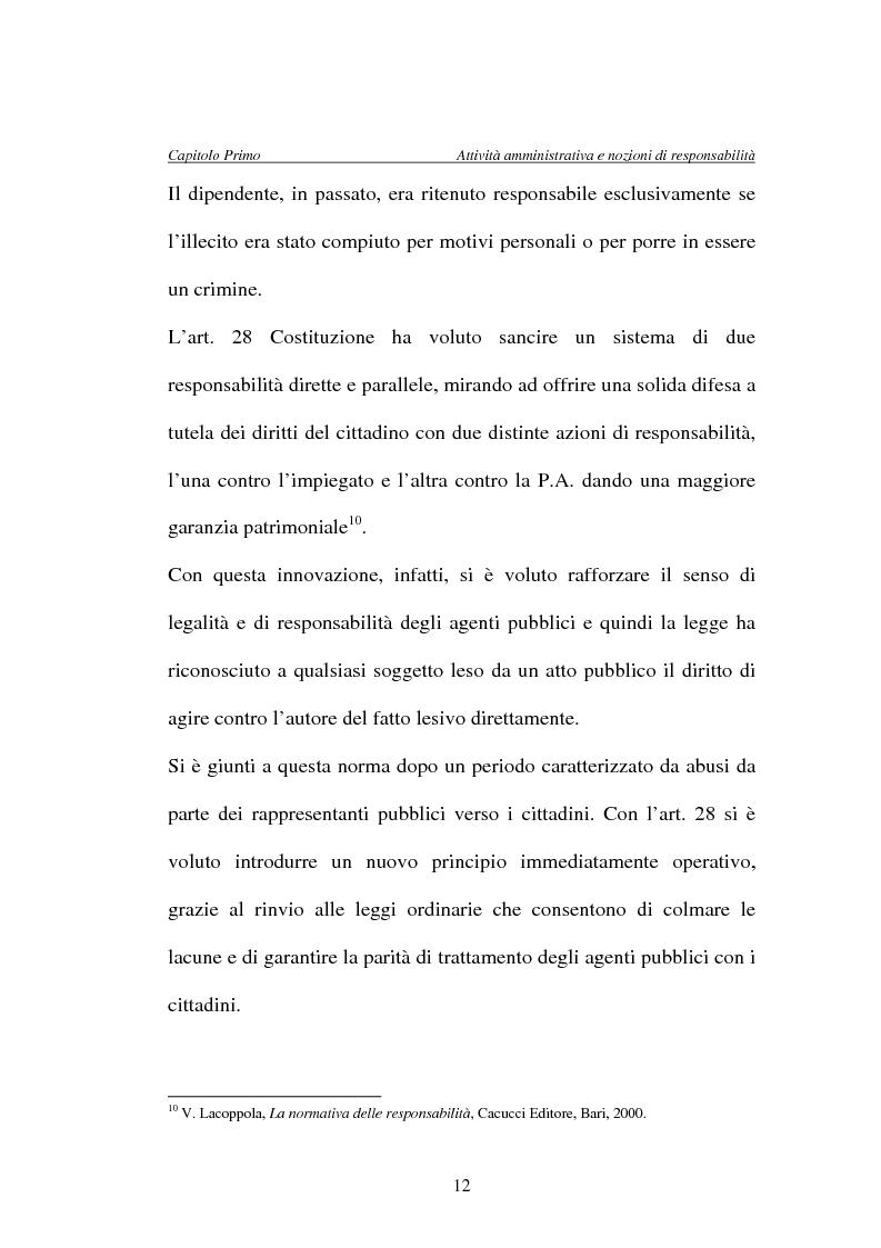 Anteprima della tesi: La responsabilità della Pubblica Amministrazione, dei dipendenti pubblici e la copertura assicurativa nella Sanità, Pagina 12