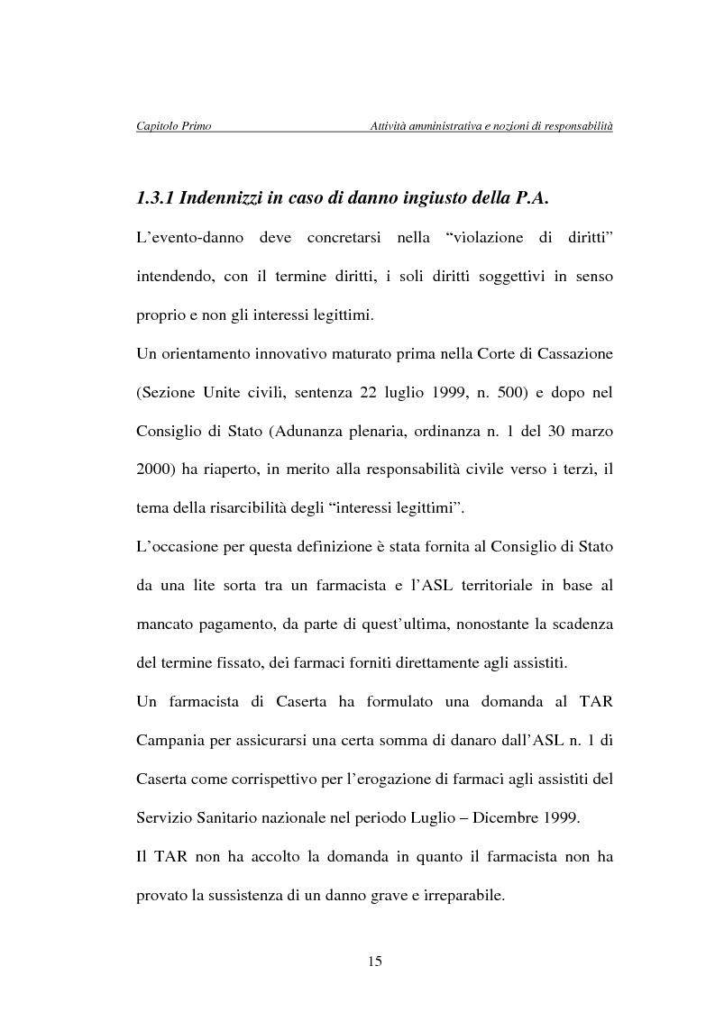 Anteprima della tesi: La responsabilità della Pubblica Amministrazione, dei dipendenti pubblici e la copertura assicurativa nella Sanità, Pagina 15