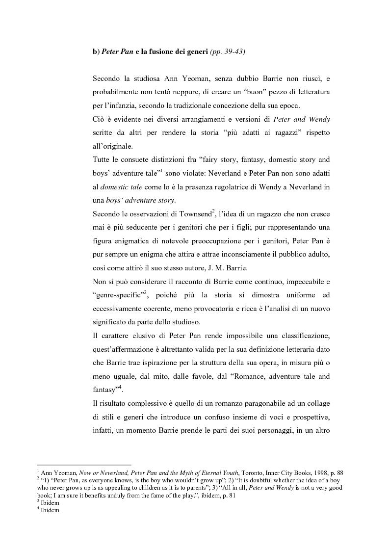 Anteprima della tesi: Peter Pan e la letteratura per l'infanzia, Pagina 1