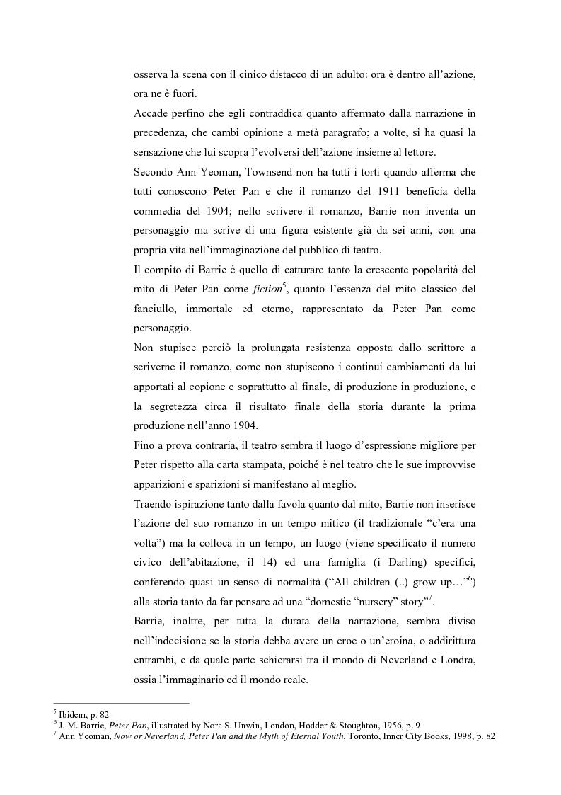 Anteprima della tesi: Peter Pan e la letteratura per l'infanzia, Pagina 2