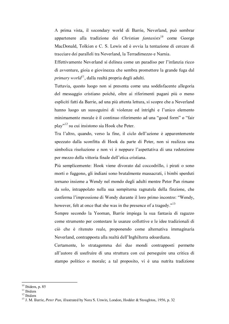 Anteprima della tesi: Peter Pan e la letteratura per l'infanzia, Pagina 4