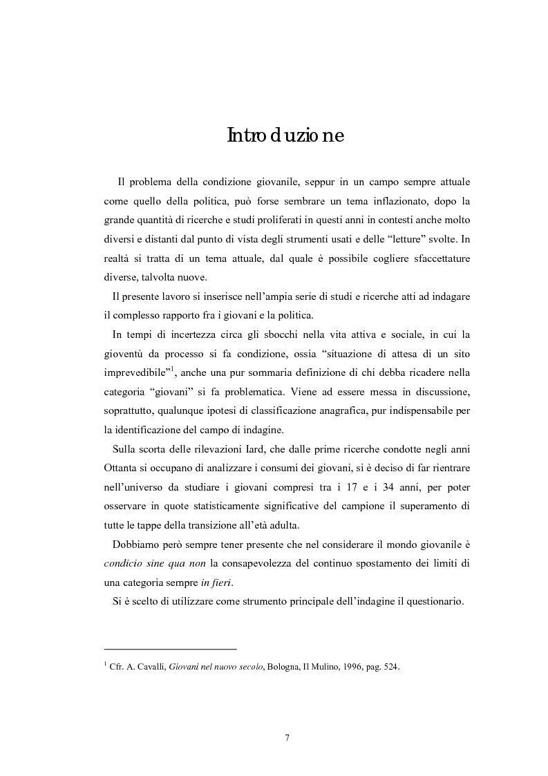 Anteprima della tesi: I giovani e la politica. I/le Giovani Comunisti/e tra movimento e disobbedienza, Pagina 1