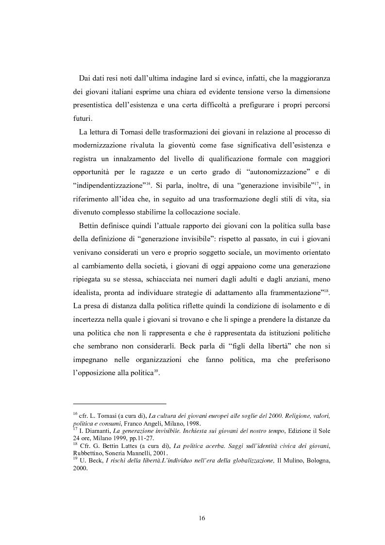 Anteprima della tesi: I giovani e la politica. I/le Giovani Comunisti/e tra movimento e disobbedienza, Pagina 10