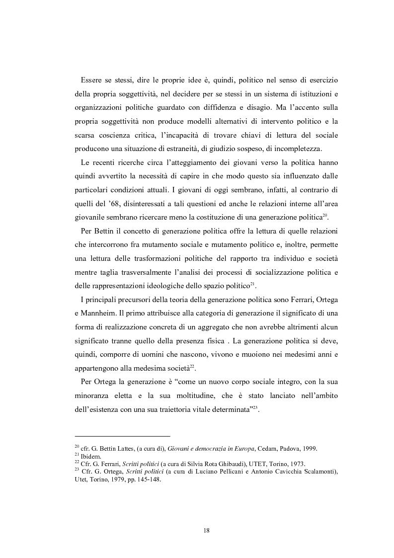 Anteprima della tesi: I giovani e la politica. I/le Giovani Comunisti/e tra movimento e disobbedienza, Pagina 12