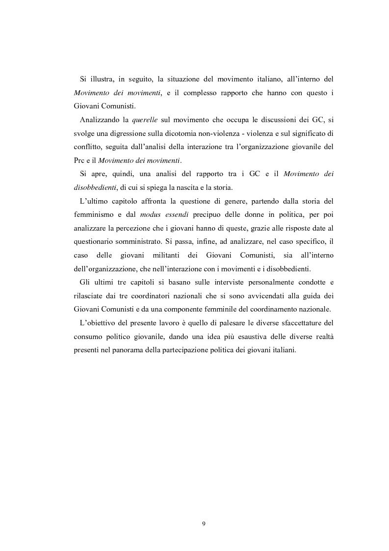 Anteprima della tesi: I giovani e la politica. I/le Giovani Comunisti/e tra movimento e disobbedienza, Pagina 3