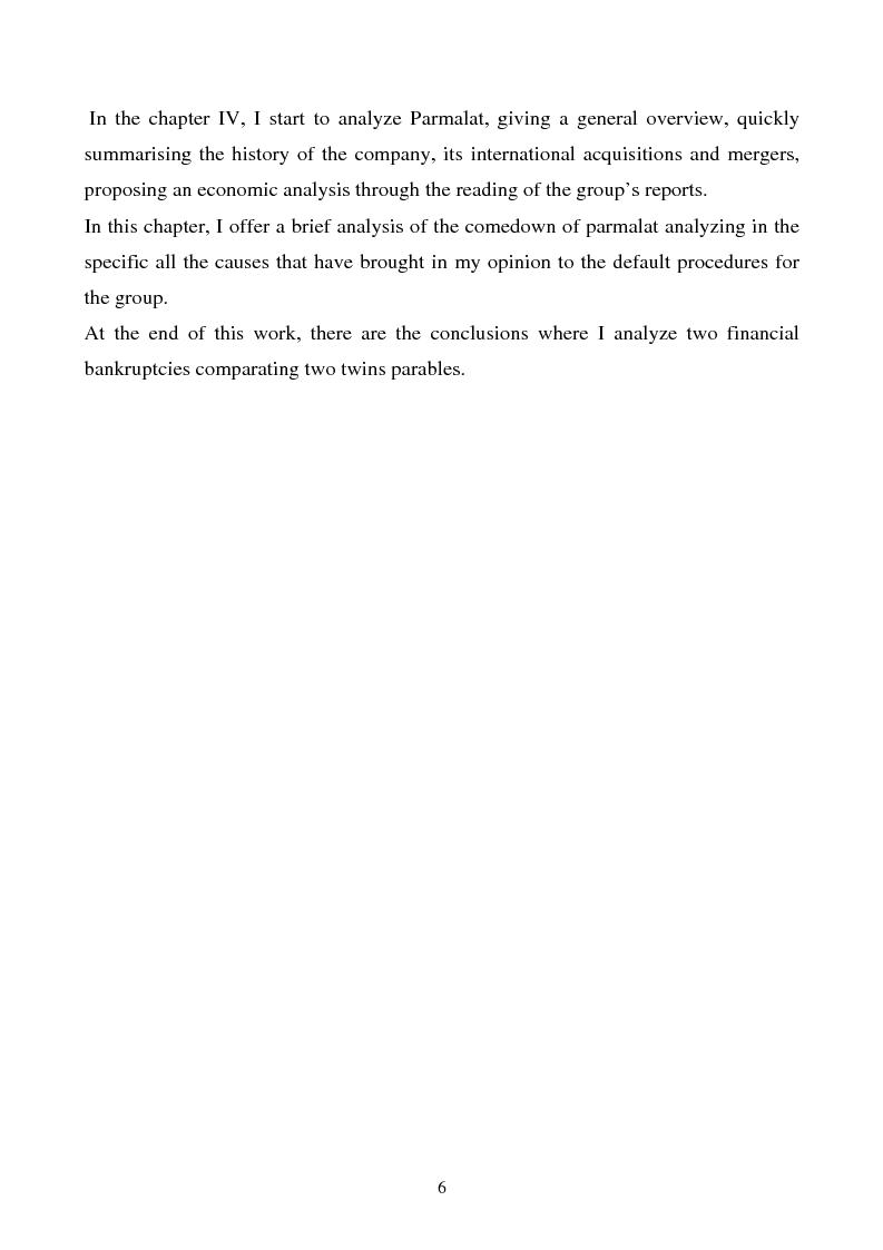 Anteprima della tesi: Enron and Parmalat two twins parables, Pagina 3