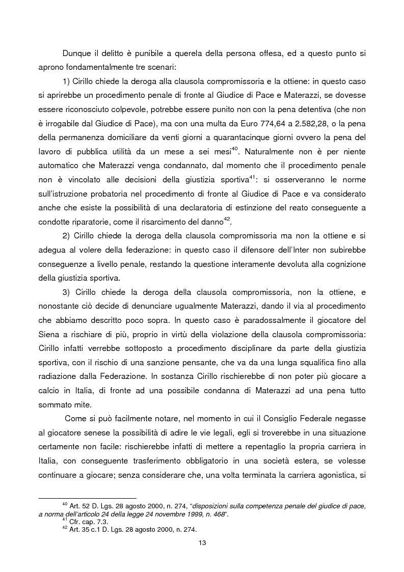 Anteprima della tesi: Violenza sportiva e diritto penale, Pagina 13