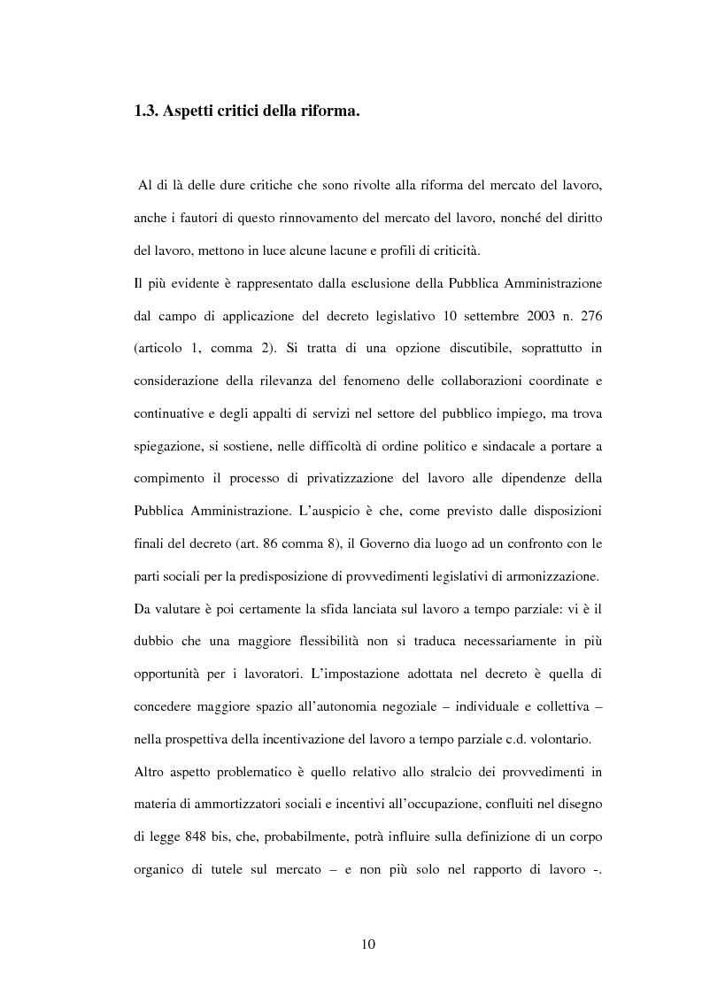 Anteprima della tesi: Mercato del lavoro e tutela del prestatore, Pagina 12