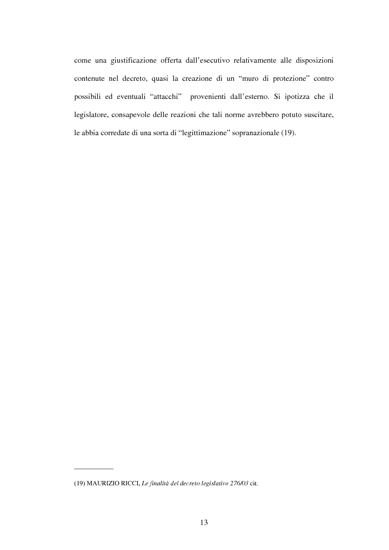 Anteprima della tesi: Mercato del lavoro e tutela del prestatore, Pagina 15
