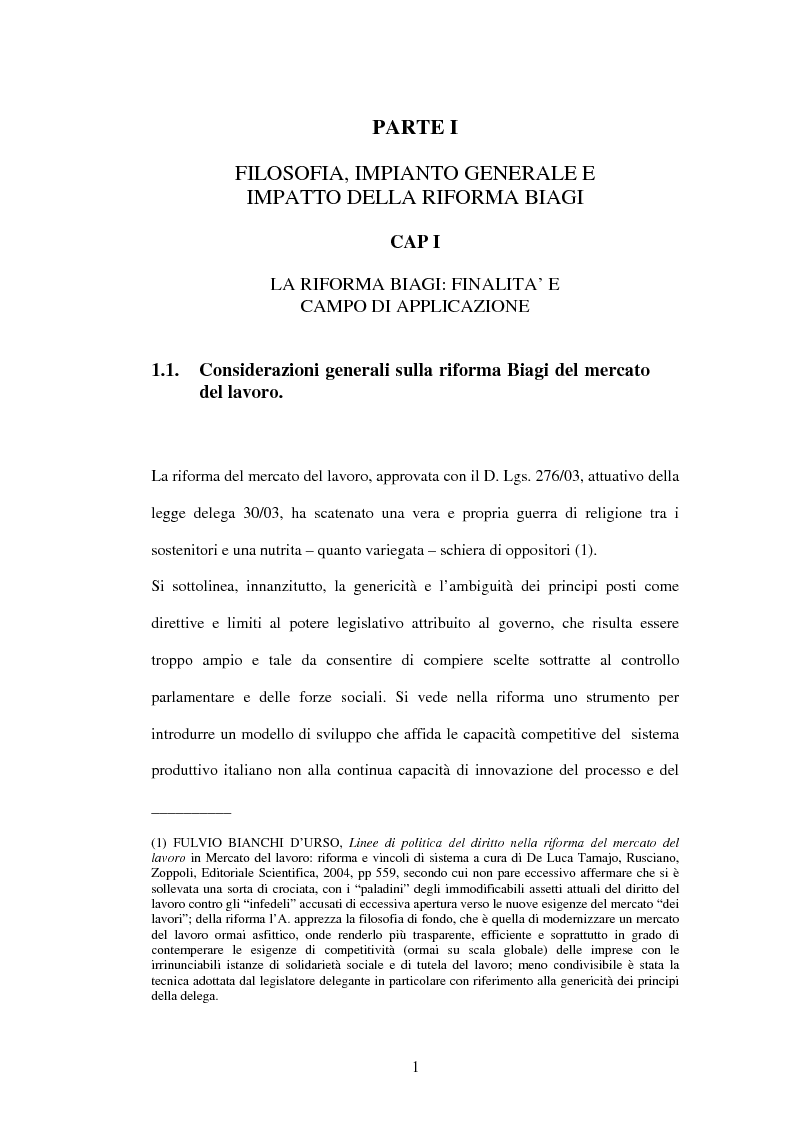 Anteprima della tesi: Mercato del lavoro e tutela del prestatore, Pagina 3