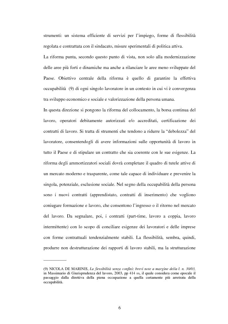 Anteprima della tesi: Mercato del lavoro e tutela del prestatore, Pagina 8