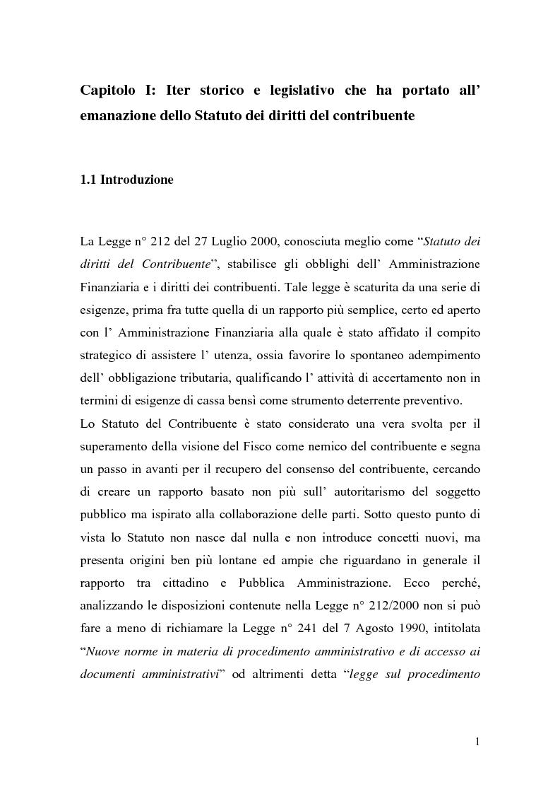 Anteprima della tesi: Italia-Spagna, uno studio di diritto comparato: ''lo Statuto dei diritti del Contribuente con particolare riferimento alla figura del Garante'', Pagina 1