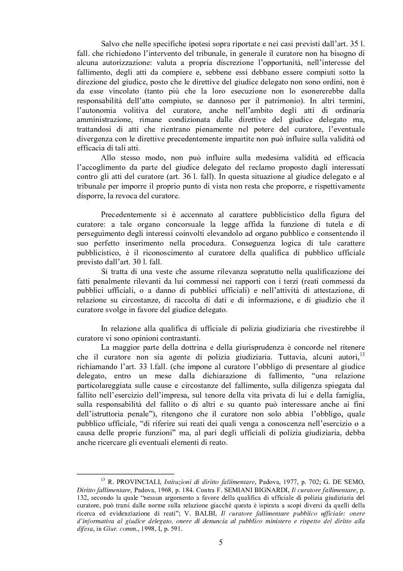 Anteprima della tesi: Il curatore fallimentare e la revocatoria delle rimesse in conto corrente, Pagina 10