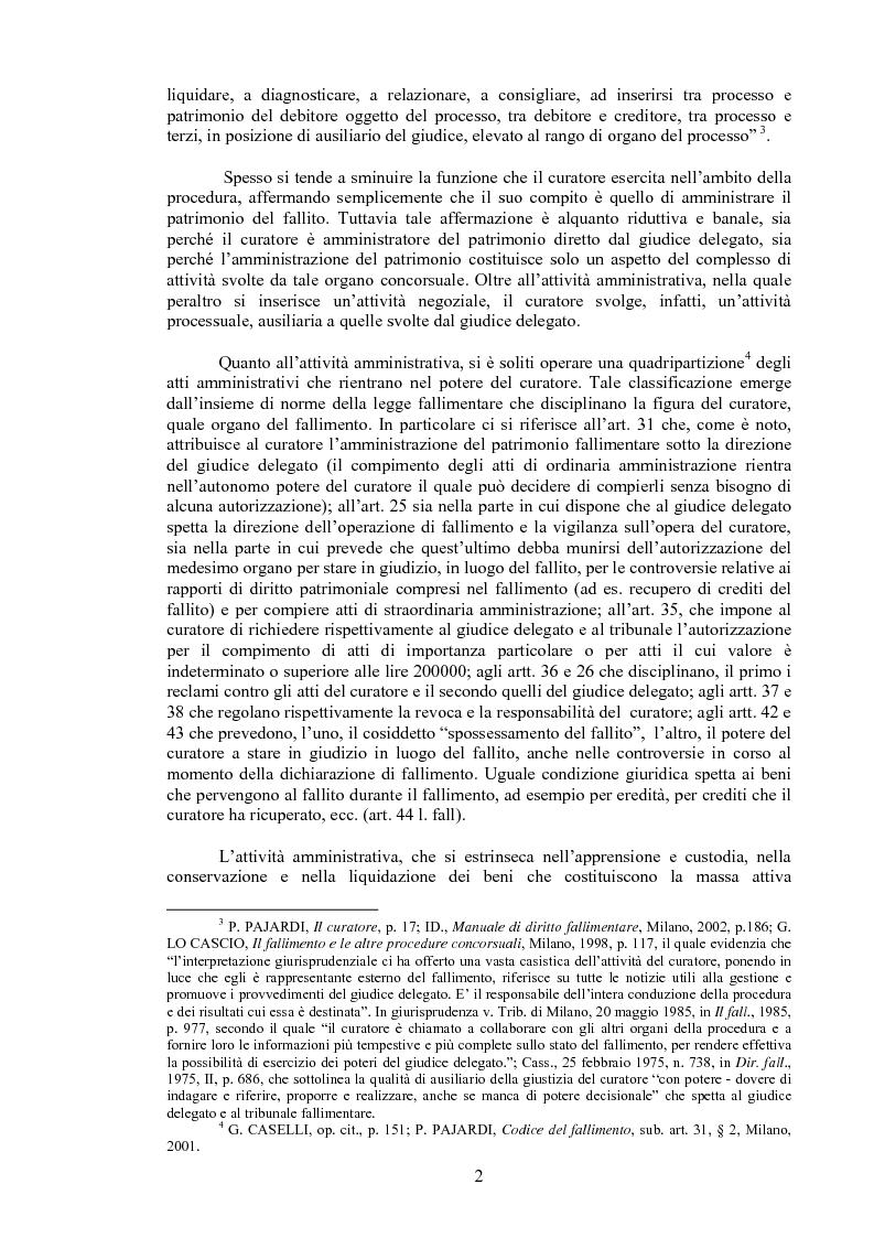 Anteprima della tesi: Il curatore fallimentare e la revocatoria delle rimesse in conto corrente, Pagina 7