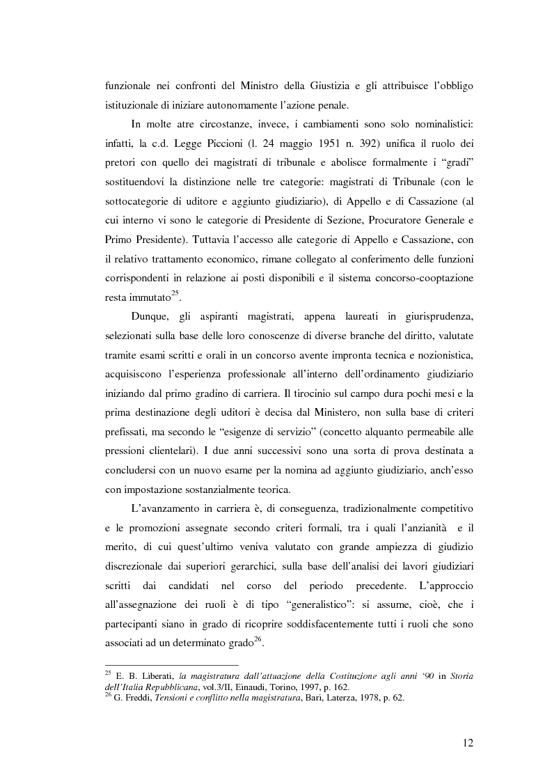 Anteprima della tesi: La valutazione della professionalità del magistrato, Pagina 12