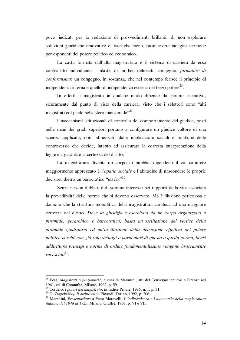 Anteprima della tesi: La valutazione della professionalità del magistrato, Pagina 14