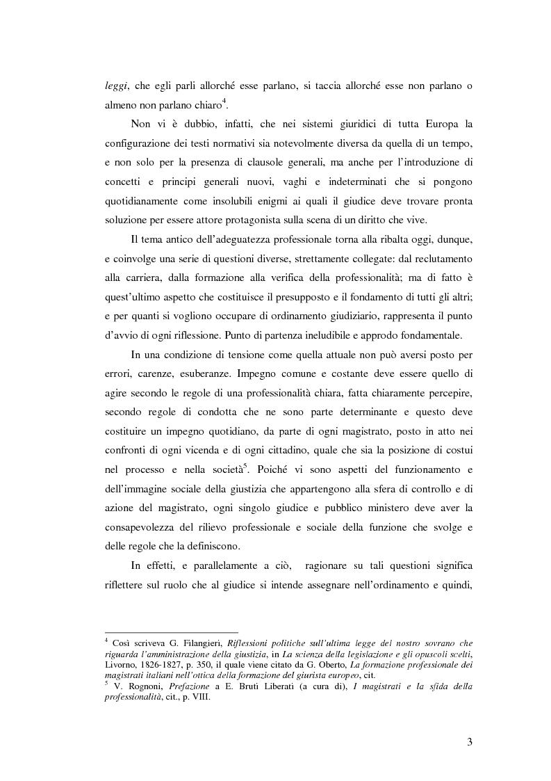 Anteprima della tesi: La valutazione della professionalità del magistrato, Pagina 3