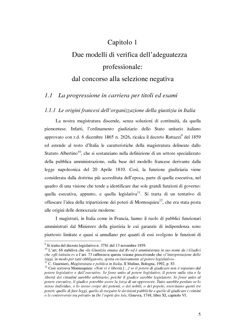 Anteprima della tesi: La valutazione della professionalità del magistrato, Pagina 5