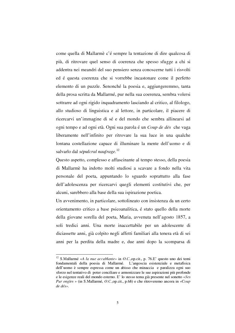 Anteprima della tesi: S. Mallarmé e W.Beckford- La Préface al Vathek, Pagina 5