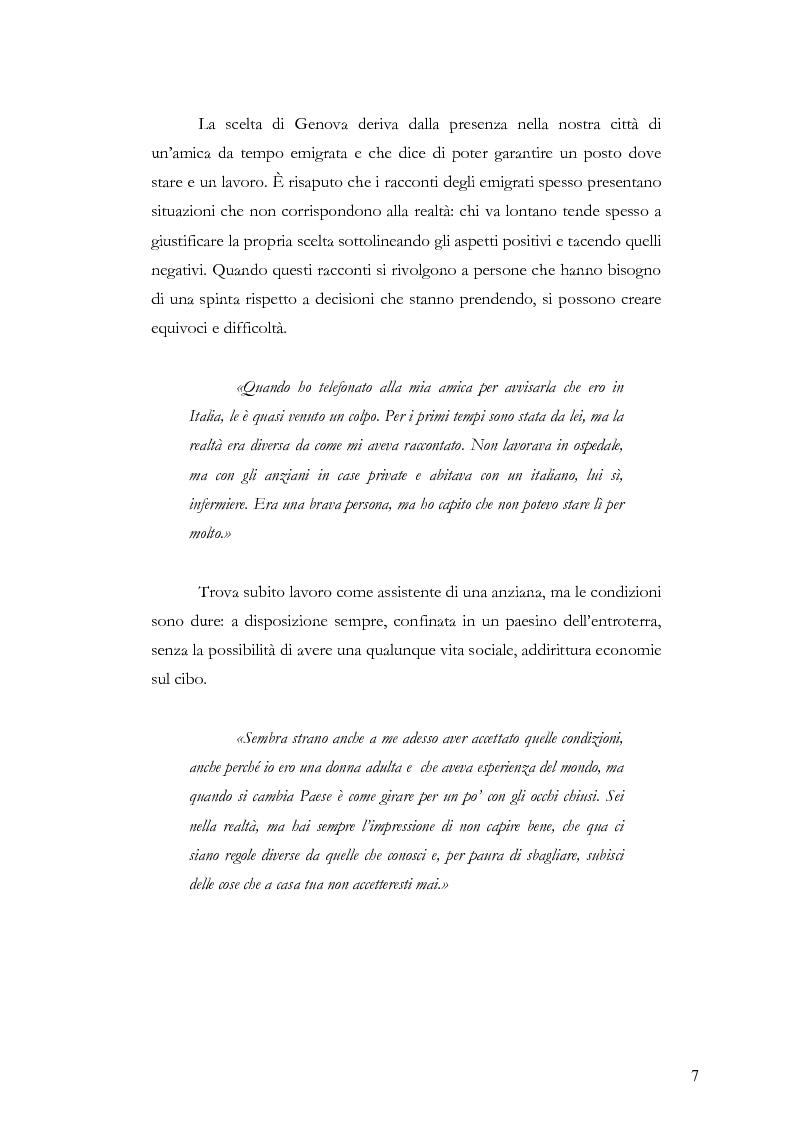 Anteprima della tesi: Caratteristiche dell'immigrazione ecuadoriana a Genova all'inizio del Terzo Millennio, Pagina 4