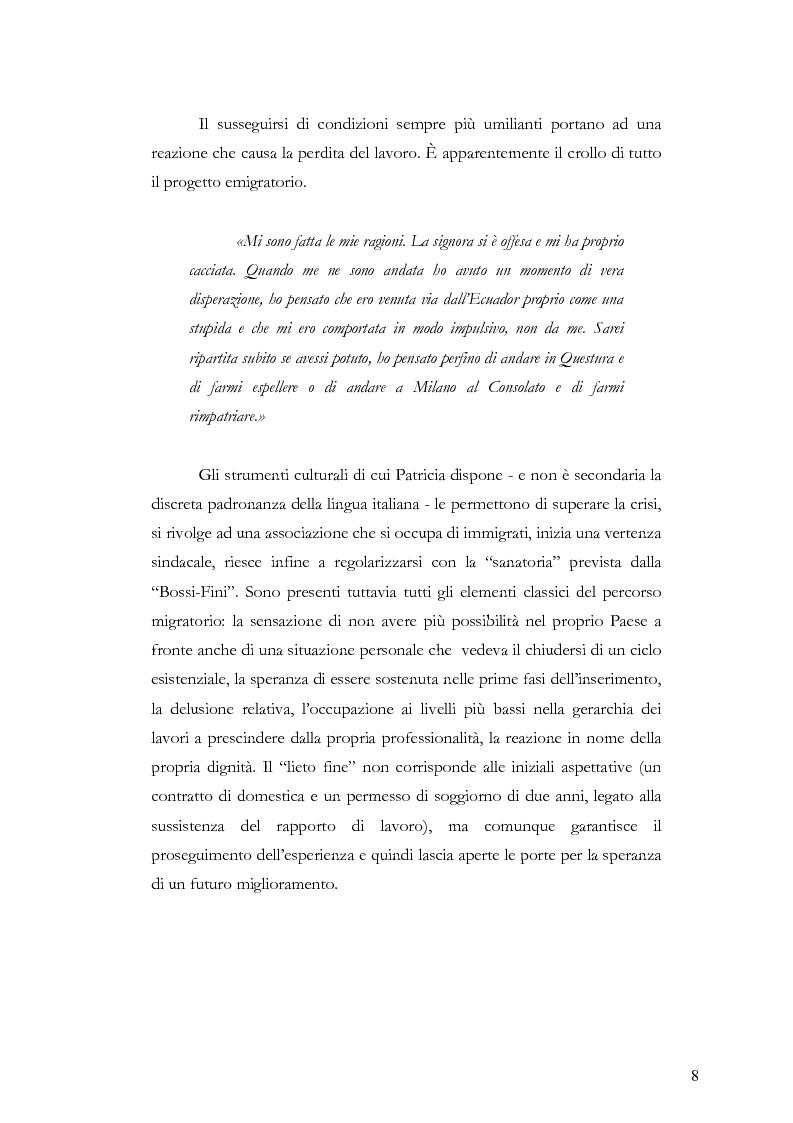 Anteprima della tesi: Caratteristiche dell'immigrazione ecuadoriana a Genova all'inizio del Terzo Millennio, Pagina 5