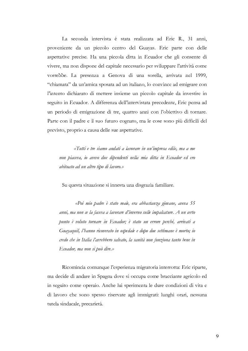 Anteprima della tesi: Caratteristiche dell'immigrazione ecuadoriana a Genova all'inizio del Terzo Millennio, Pagina 6