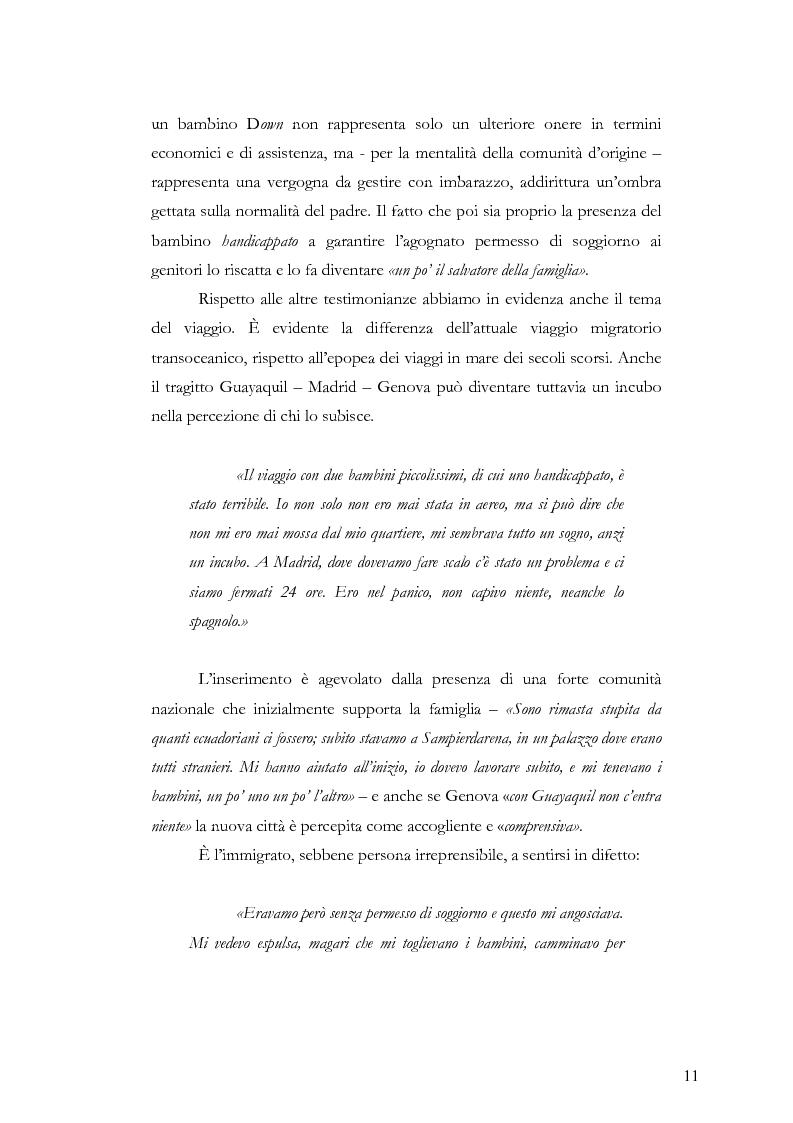 Anteprima della tesi: Caratteristiche dell'immigrazione ecuadoriana a Genova all'inizio del Terzo Millennio, Pagina 8