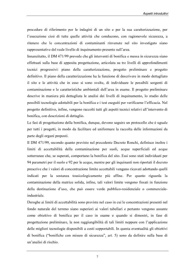 Anteprima della tesi: Analisi dei costi di bonifica dei suoli. Studio sui casi della Provincia di Milano, Pagina 7