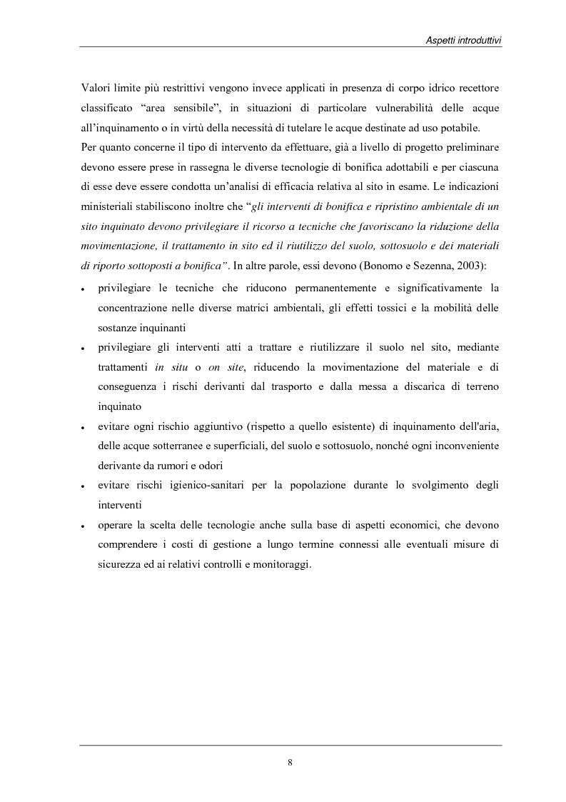 Anteprima della tesi: Analisi dei costi di bonifica dei suoli. Studio sui casi della Provincia di Milano, Pagina 8