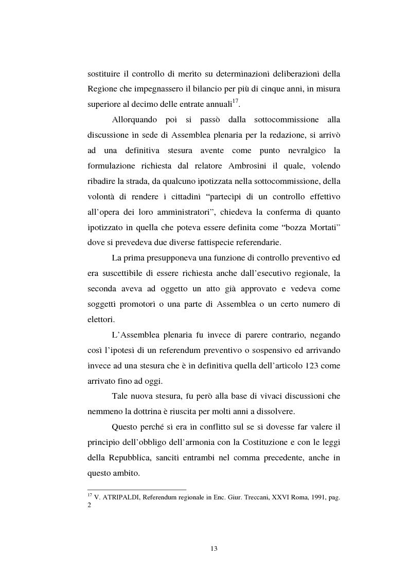 Anteprima della tesi: Il referendum nell'ordinamento regionale, Pagina 11