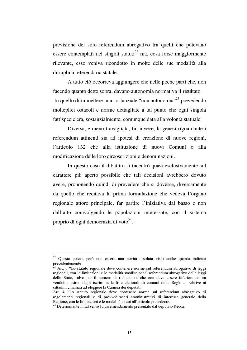 Anteprima della tesi: Il referendum nell'ordinamento regionale, Pagina 13
